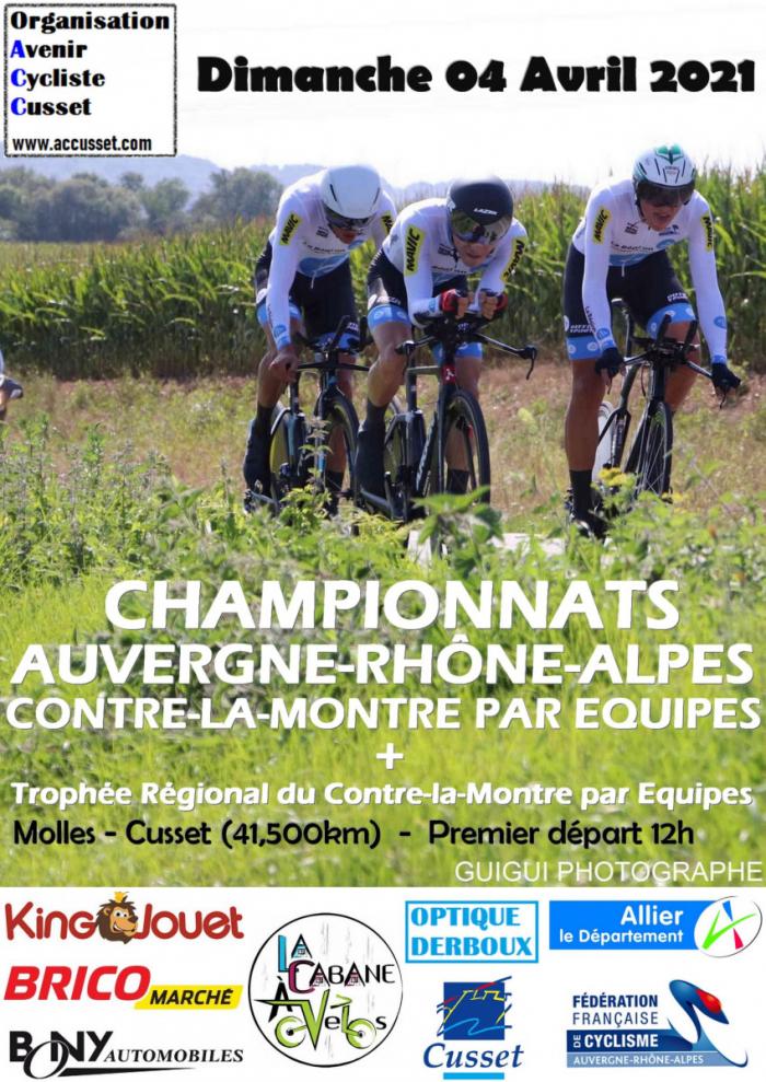 Calendrier Cyclotourisme 2022 Rhone Alpes Championnat Auvergne Rhône Alpes   CLM par équipes : Les horaires